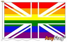 UNION JACK RAINBOW  ANYFLAG RANGE - VARIOUS SIZES